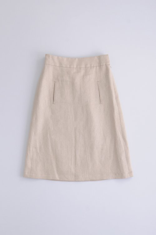 linen chino tight skirt