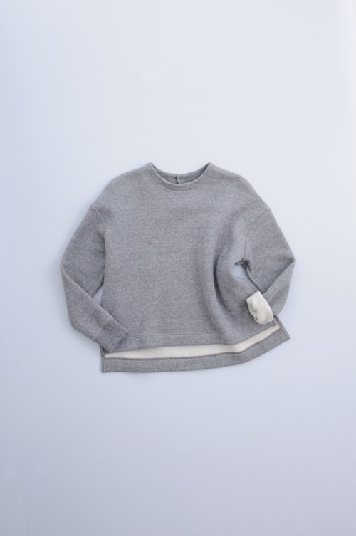 cotton fleece lining pullover / gray