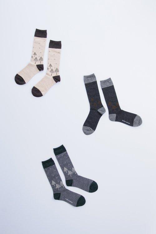 wool 〜初雪〜 middle socks
