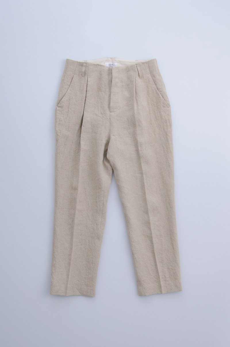 natural linen tapered pants