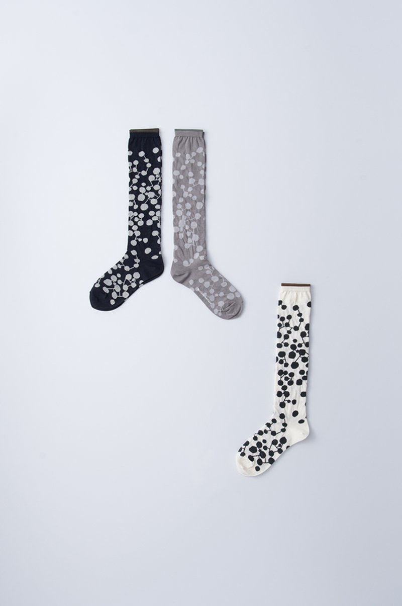 cotton linen ~PLANET~ high socks