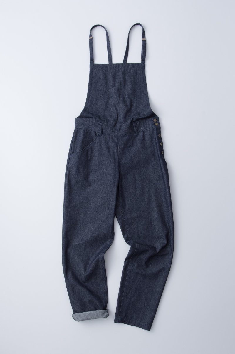 cotton denim salopette pants