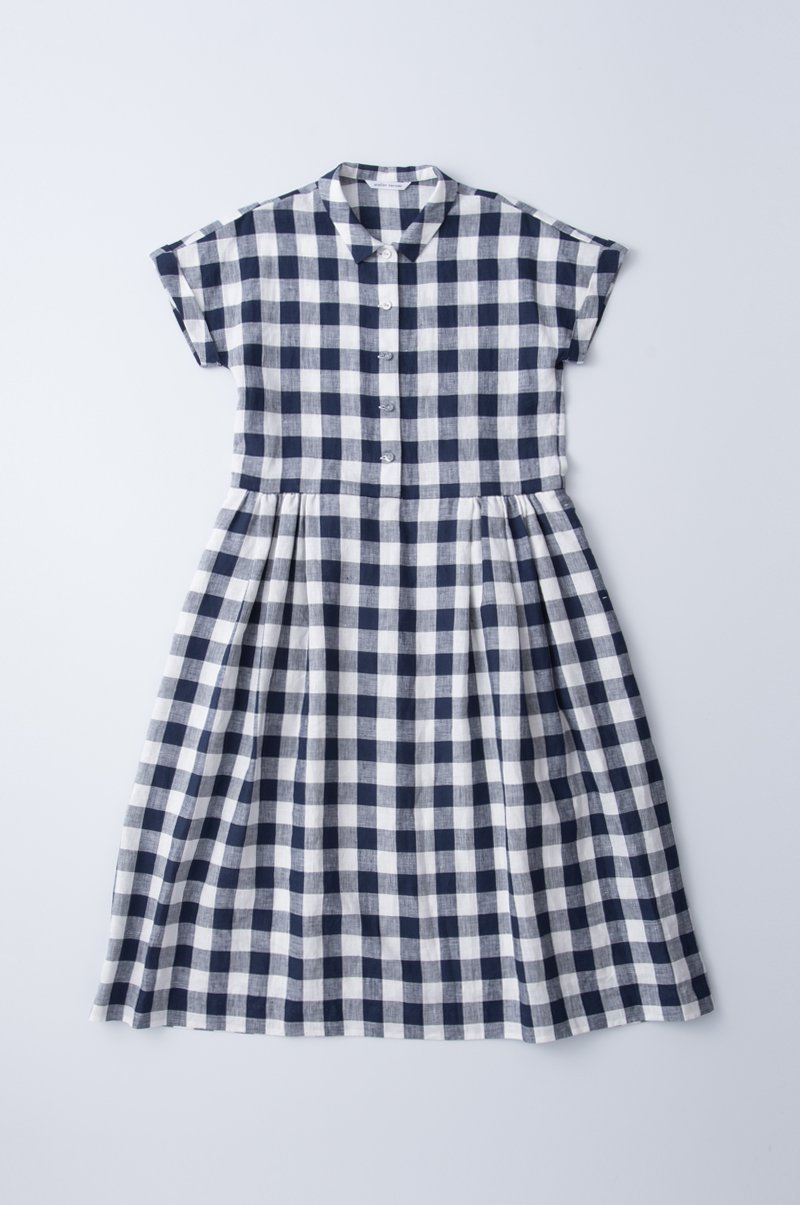 "linen shirts one-piece""gingham check"""