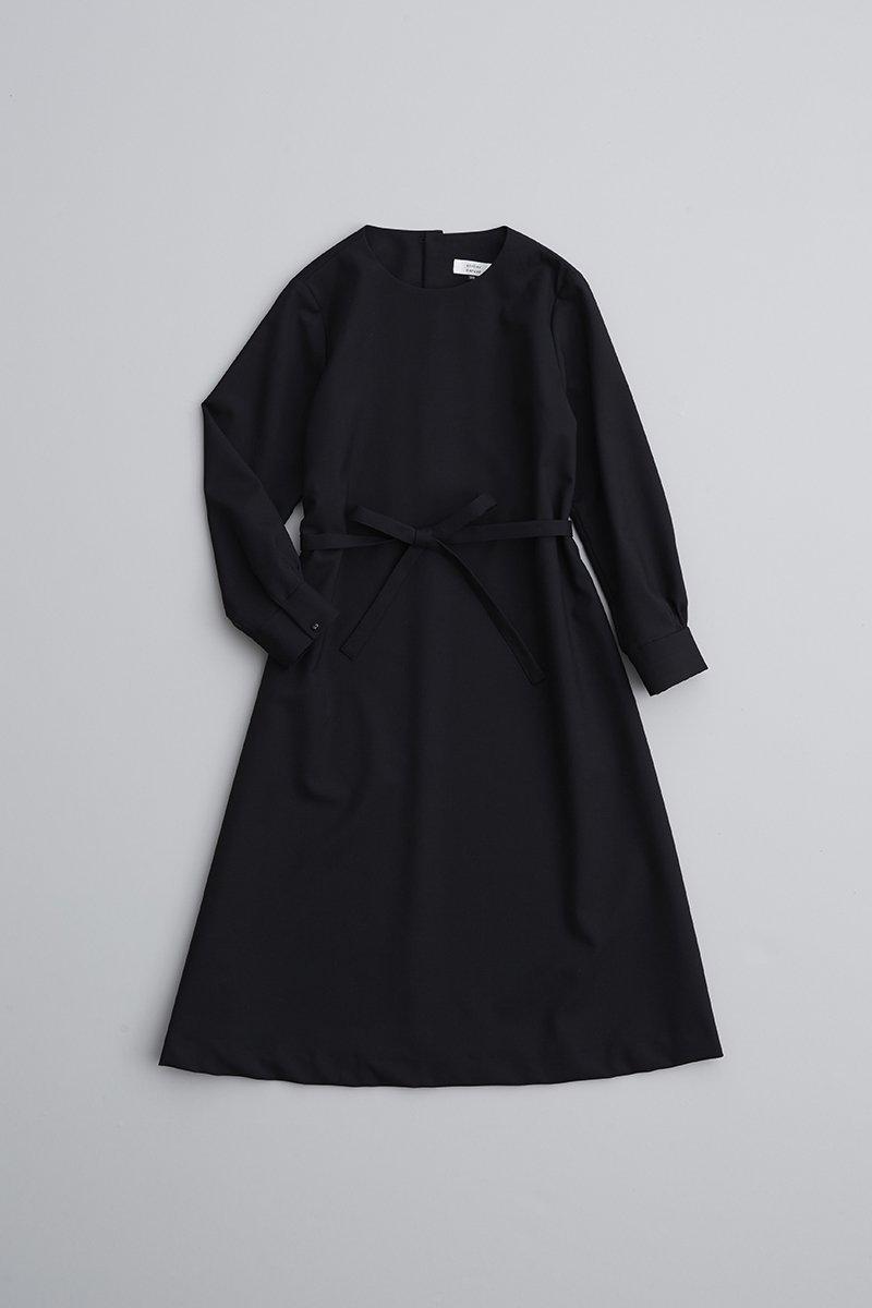 black formal A line one-piece dress / black