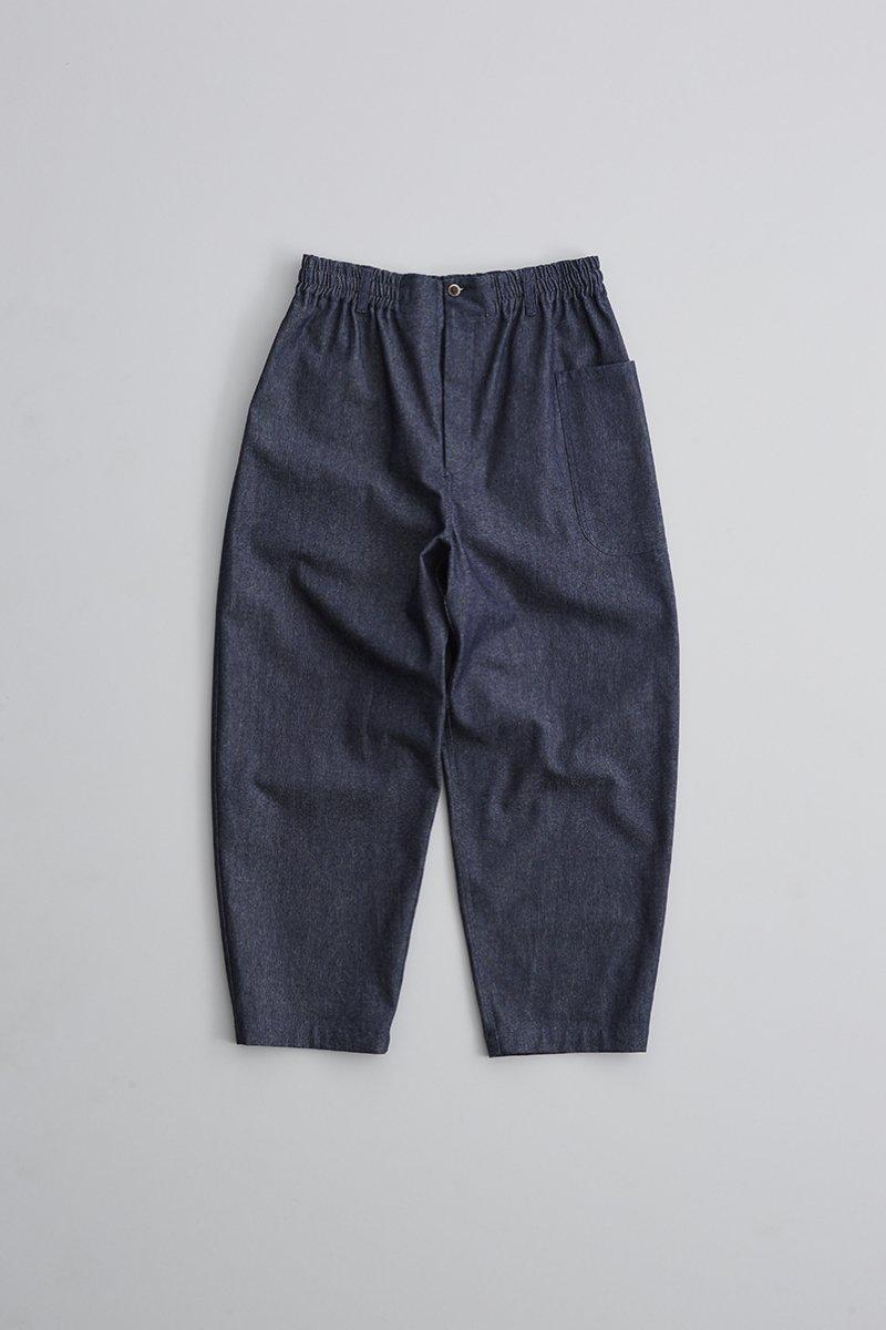 indigo / cotton denim balloon pants