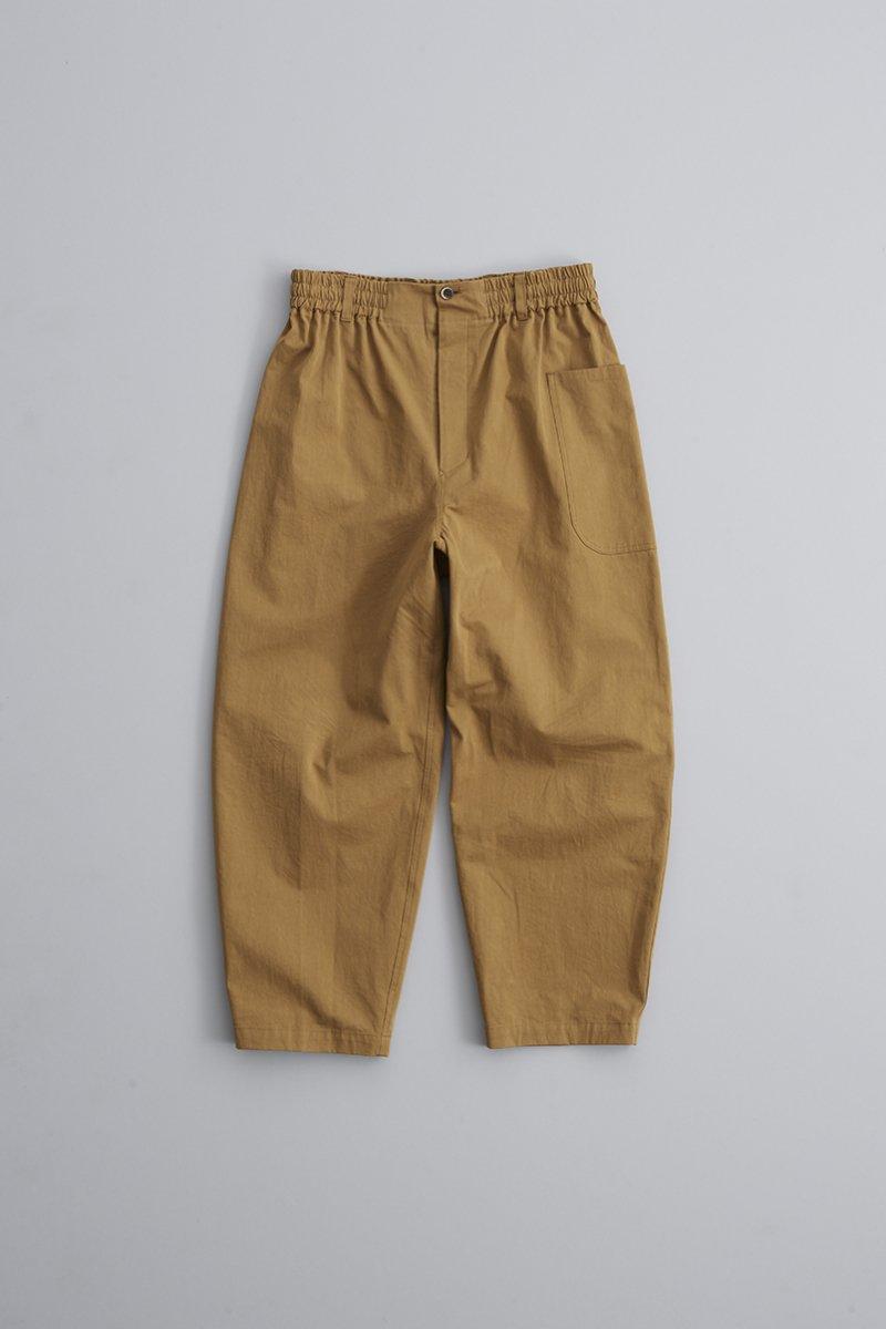 camel / cotton chino balloon pants