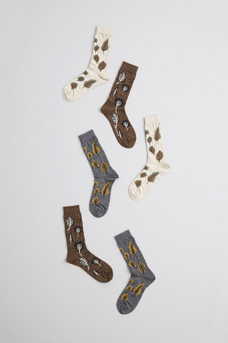 wool ~leaf~ middle socks