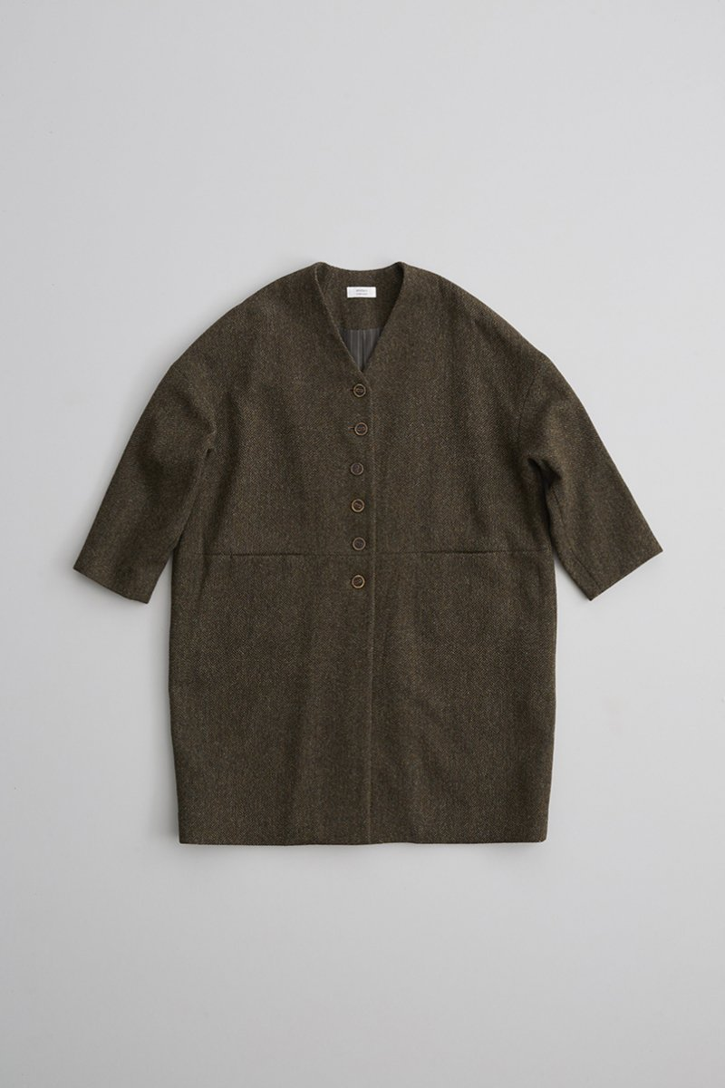 MOON ENGLAND tweed cocoon coat