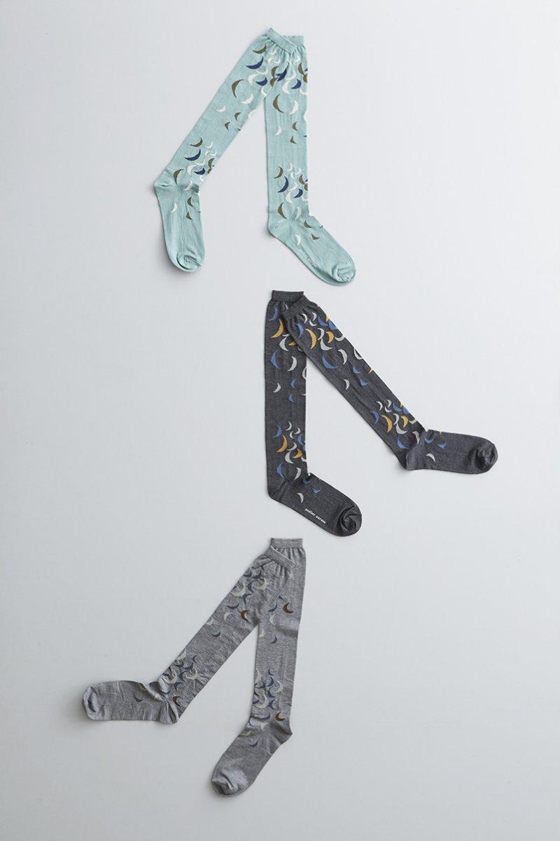 cotton ~雨ときどき月~ high socks