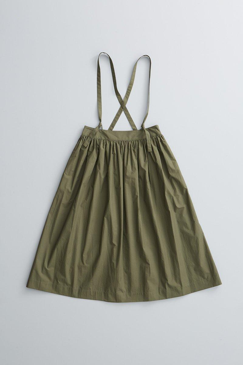 cotton suspenders skirt / khaki