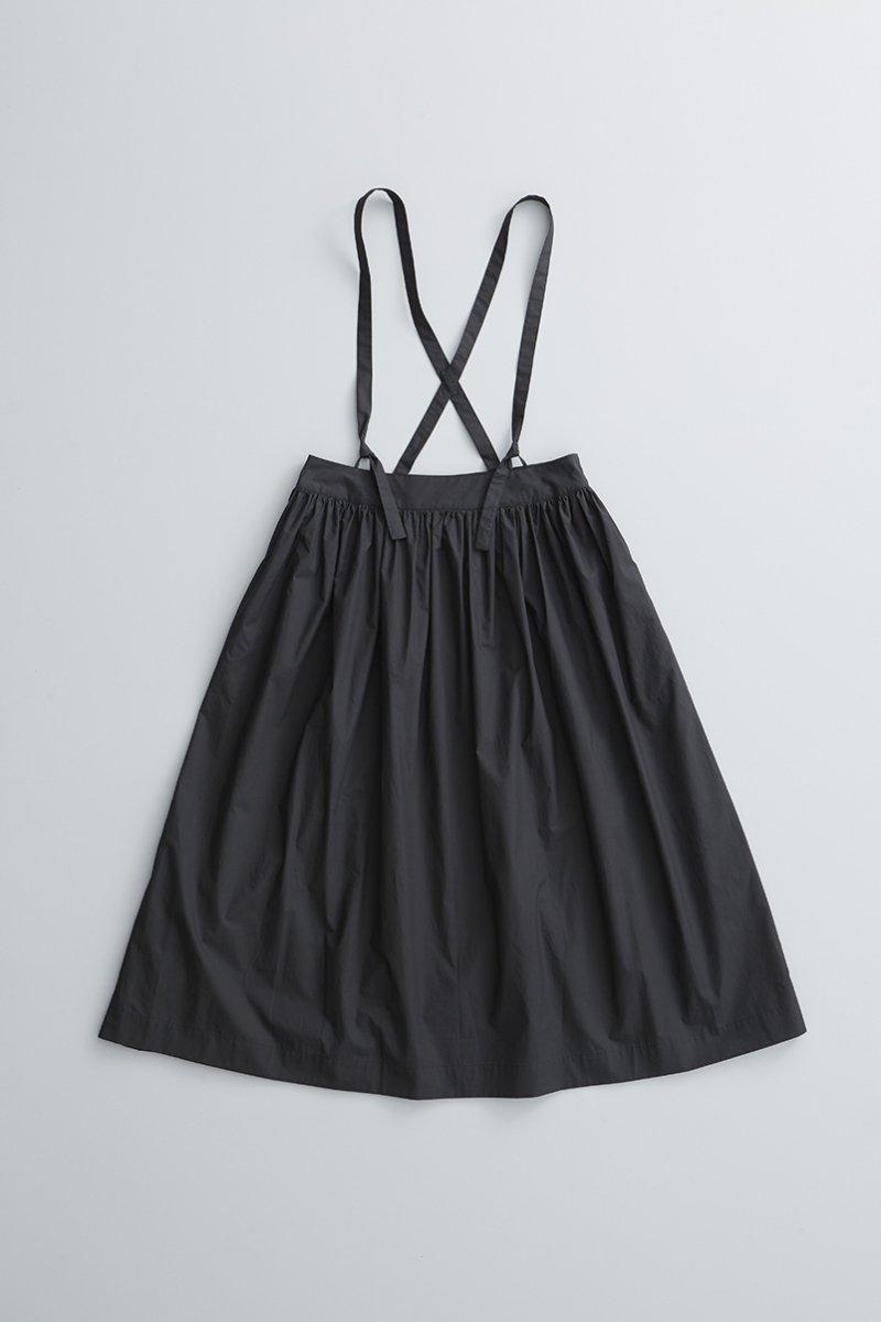 cotton suspenders skirt / black