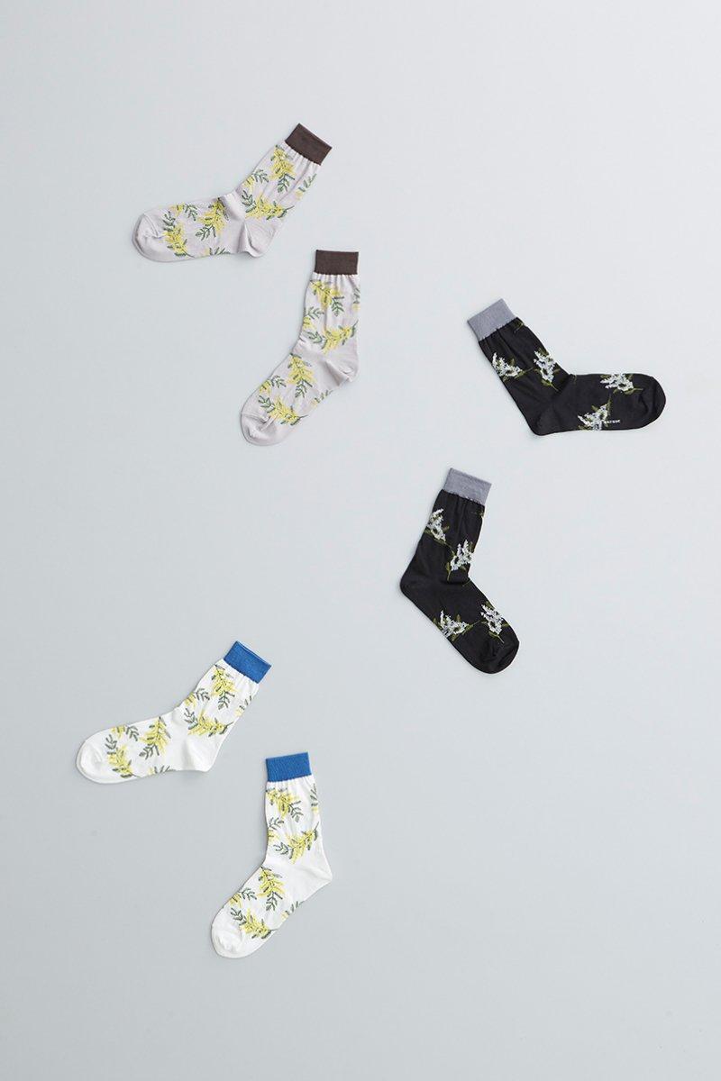cotton ~mimoza~ middle socks