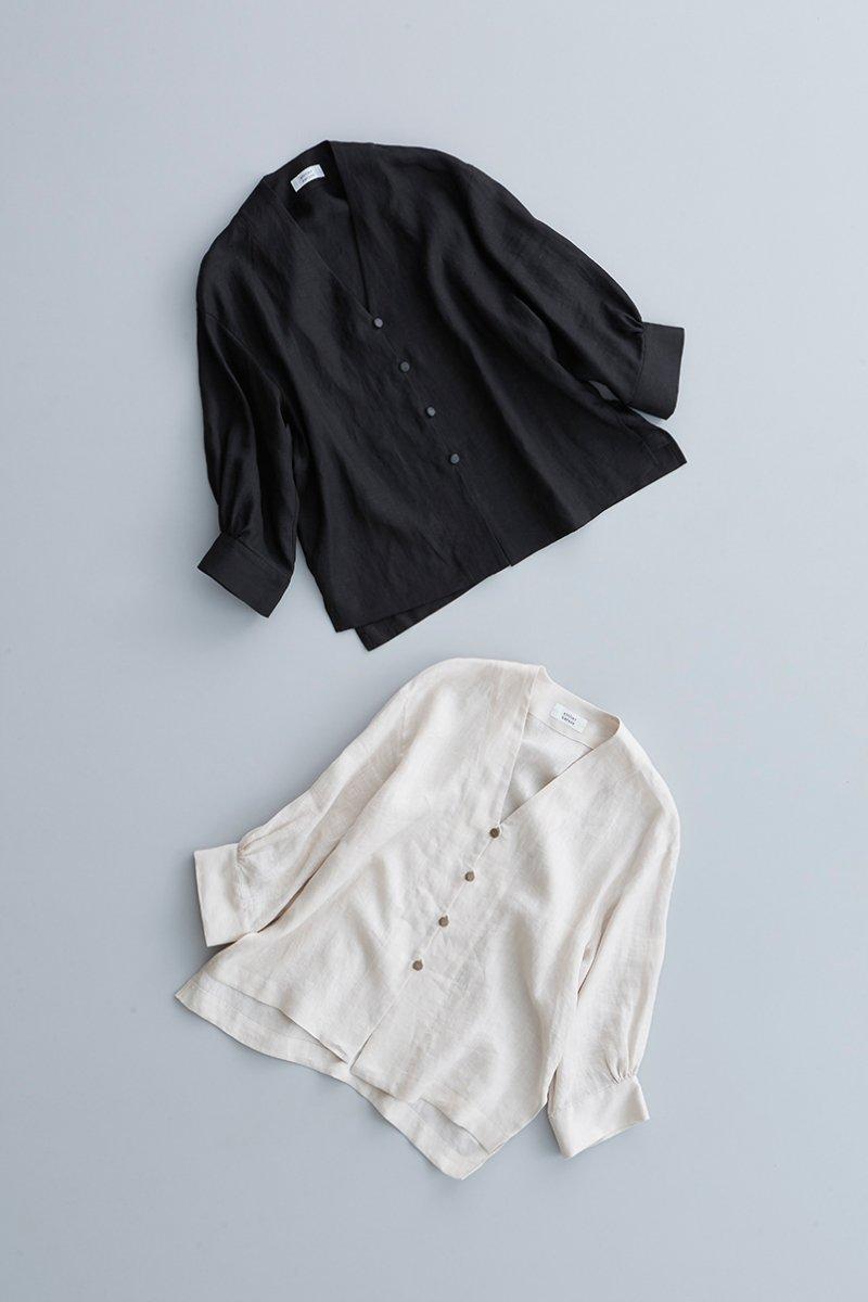 linen shirt cardigan