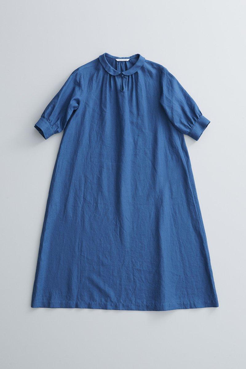 linen farmers one-piece / blue