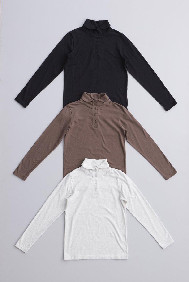 cotton high neck cut&sewn
