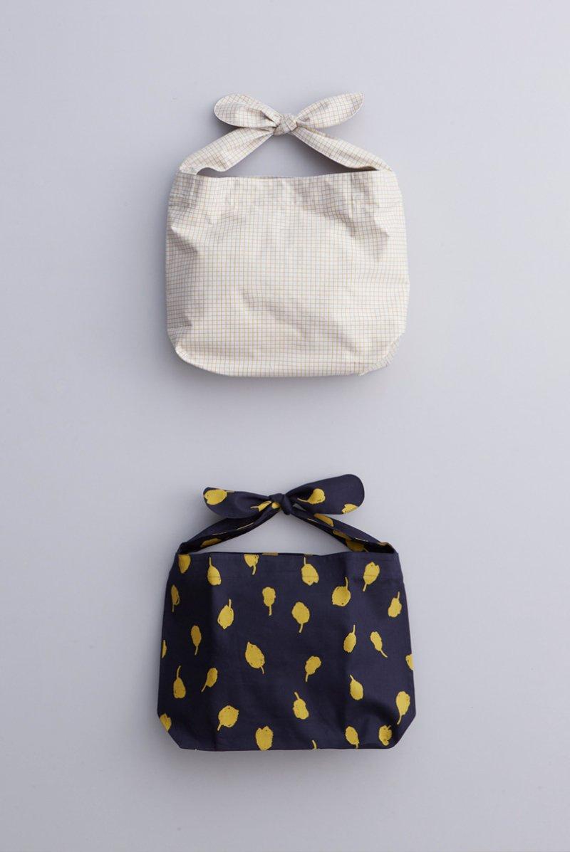 cotton ~pool & chamomile~ shoulder knot bag