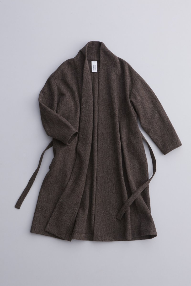 wool robe gown / brown