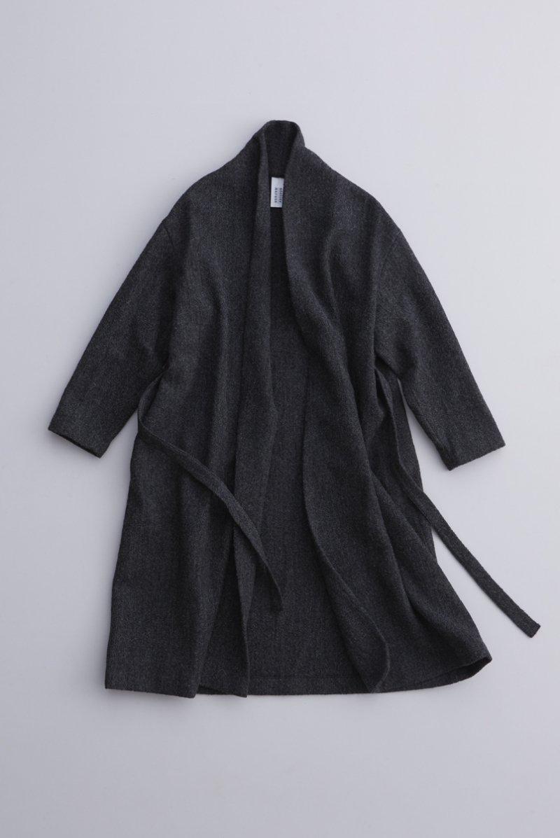 wool robe gown / black