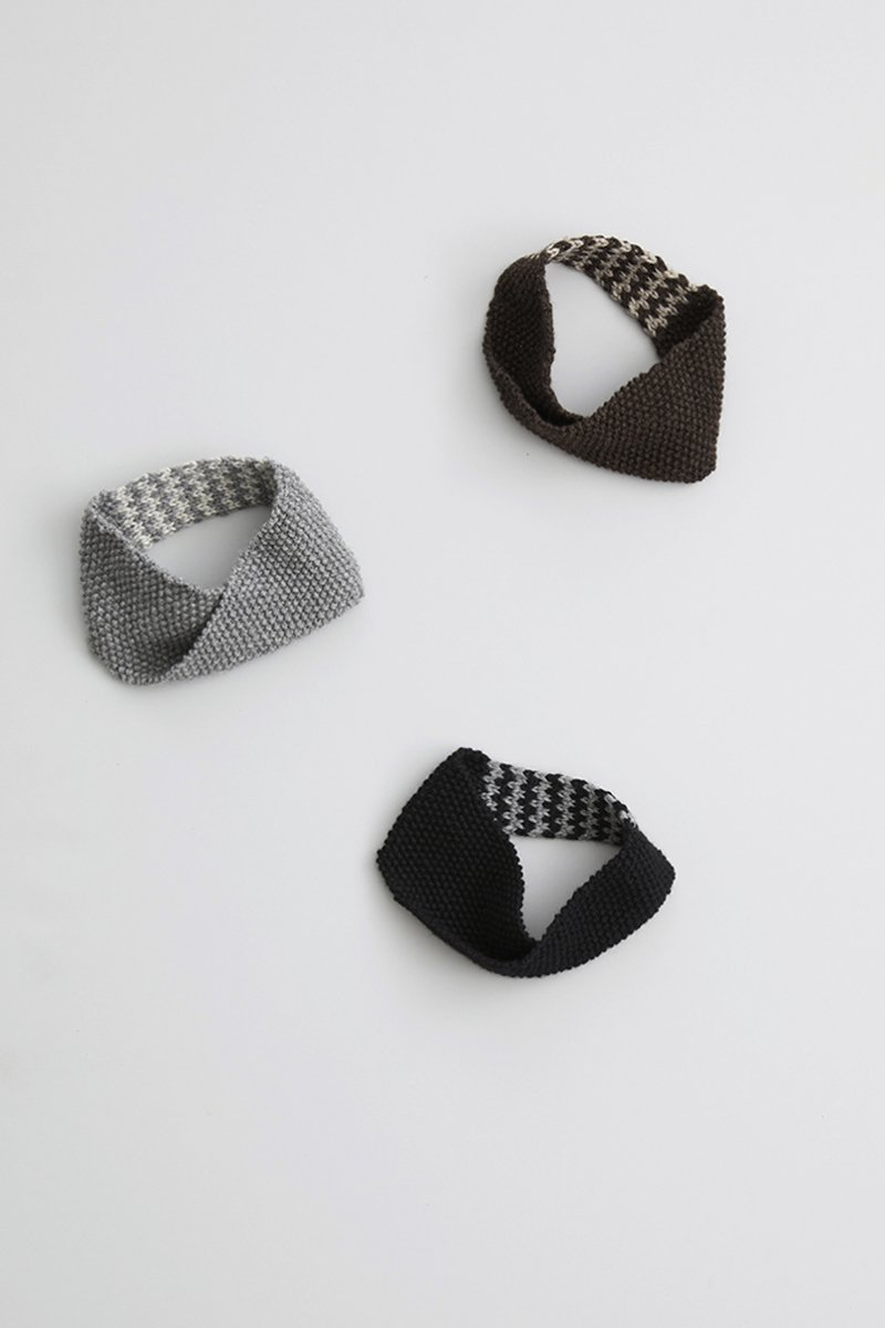 wool ~zig-zag~ knit head-band