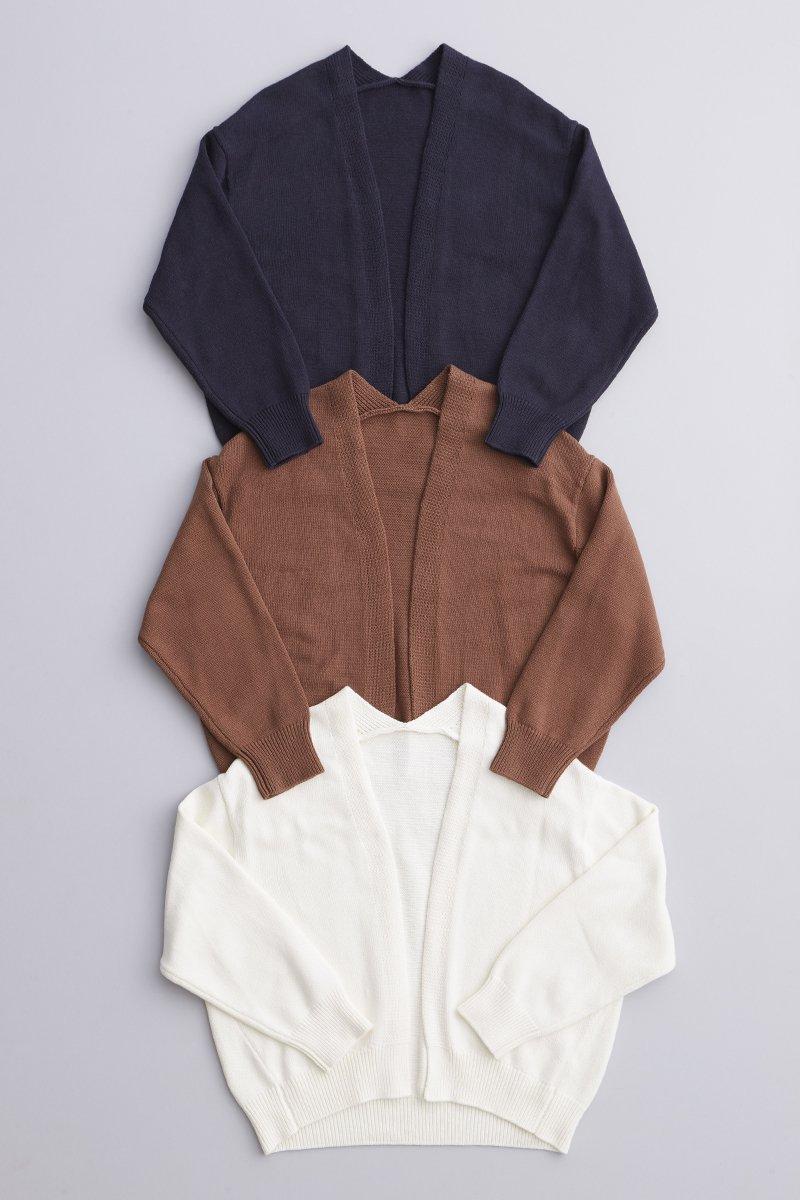 cotton low gauge cocoon knit