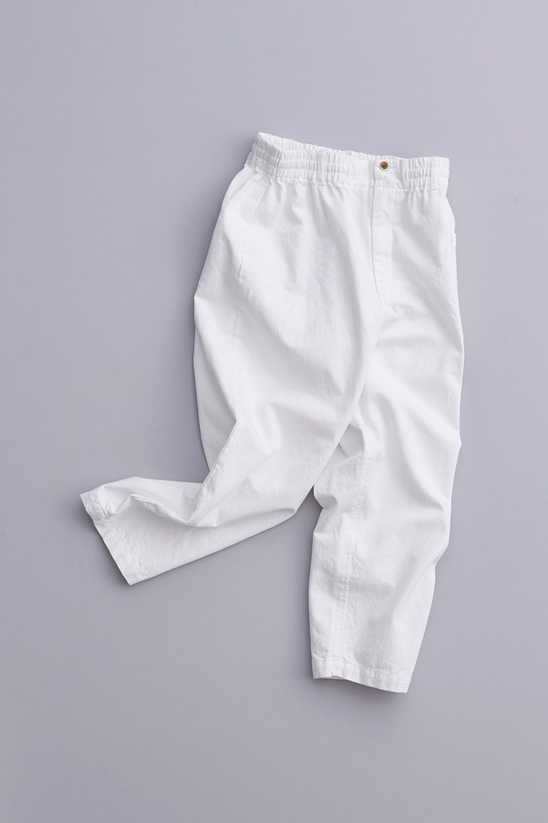 cotton denim balloon pants / off white