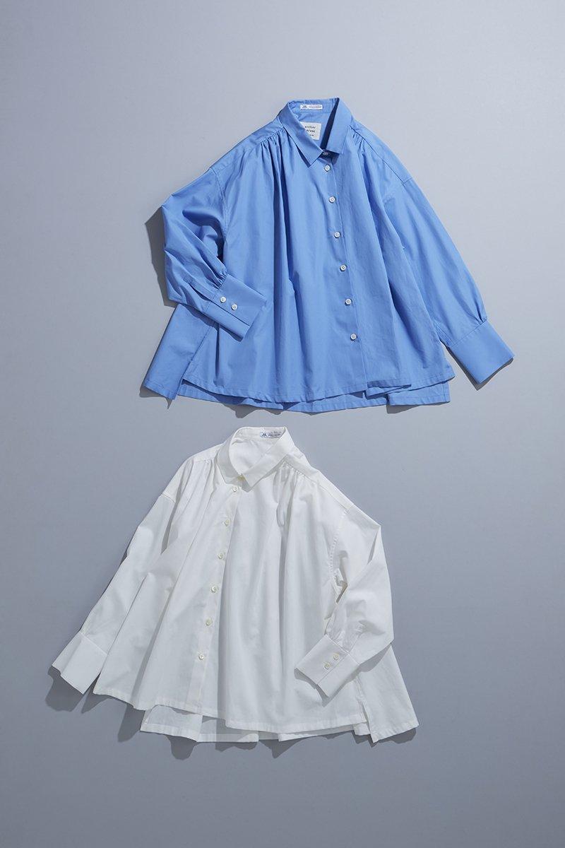 cotton ~THOMAS MASON~ gather blouse