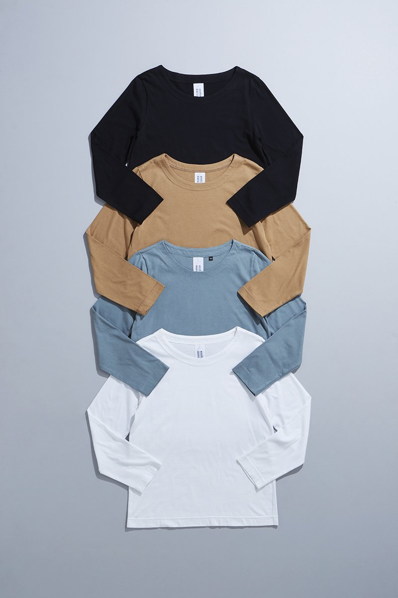 cotton circular rib fabric cut&sewn(長袖)