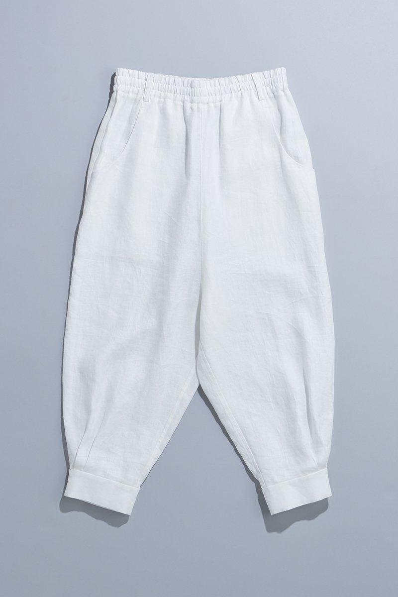 linen sarrouel pants / off white