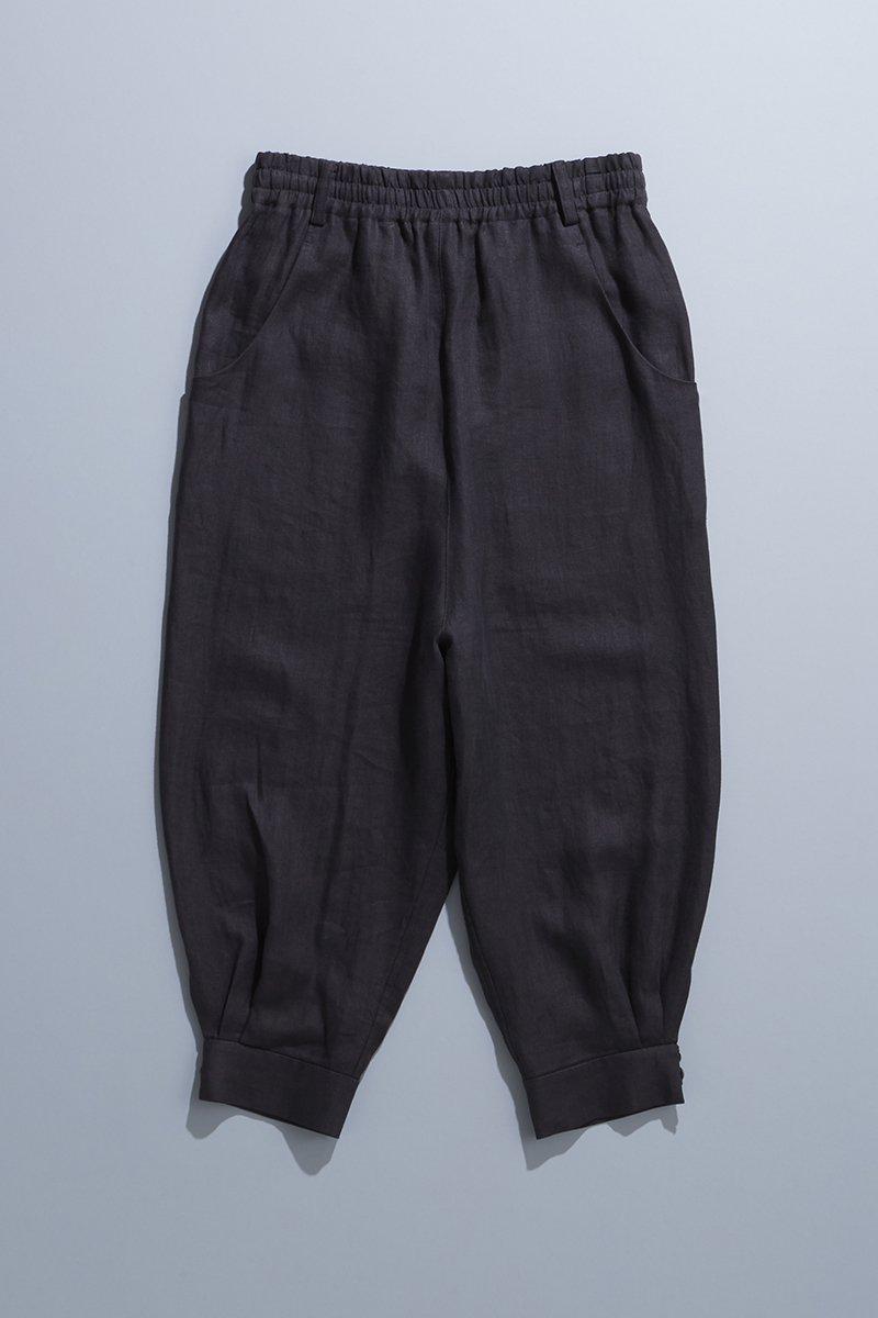 linen sarrouel pants / charcoal