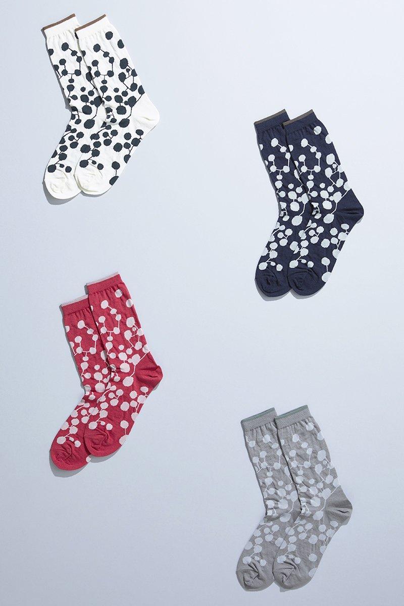 cotton linen ~PLANET~ middle socks