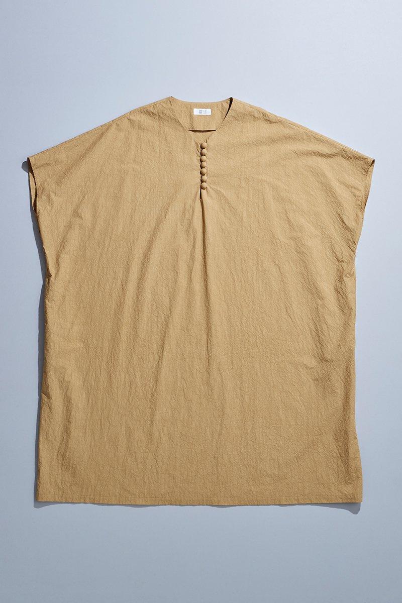 cotton TENT-LINE one-piece / camel