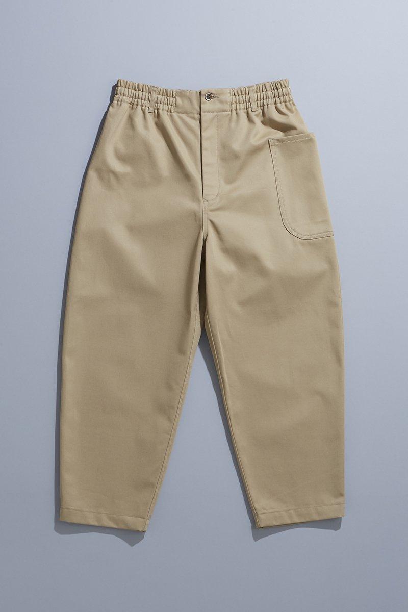 cotton chino balloon pants / beige