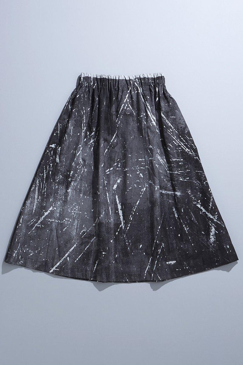 cotton linen ~kitchen~ bicolor skirt