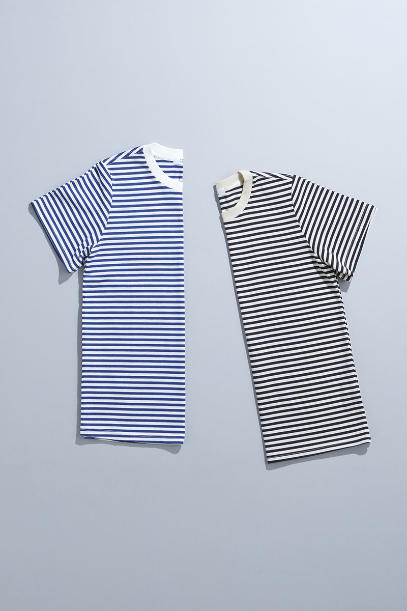 cotton border cut&sewn(半袖)