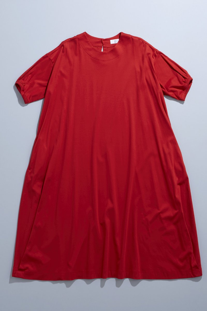 cotton c&s cocoon one-piece / red