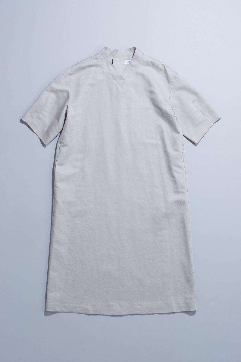 cotton linen silk formal one-piece / gray