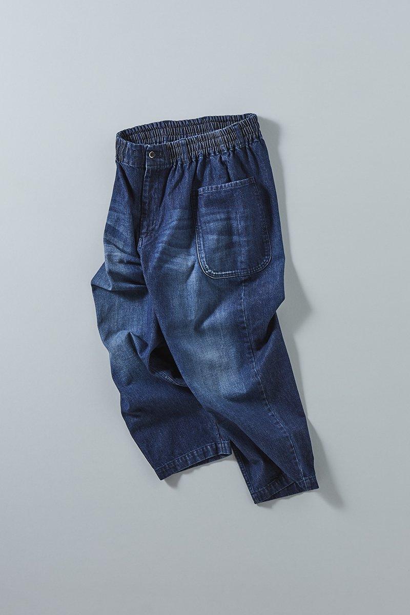 cotton denim balloon pants / indigo(ダメージ加工ver.)