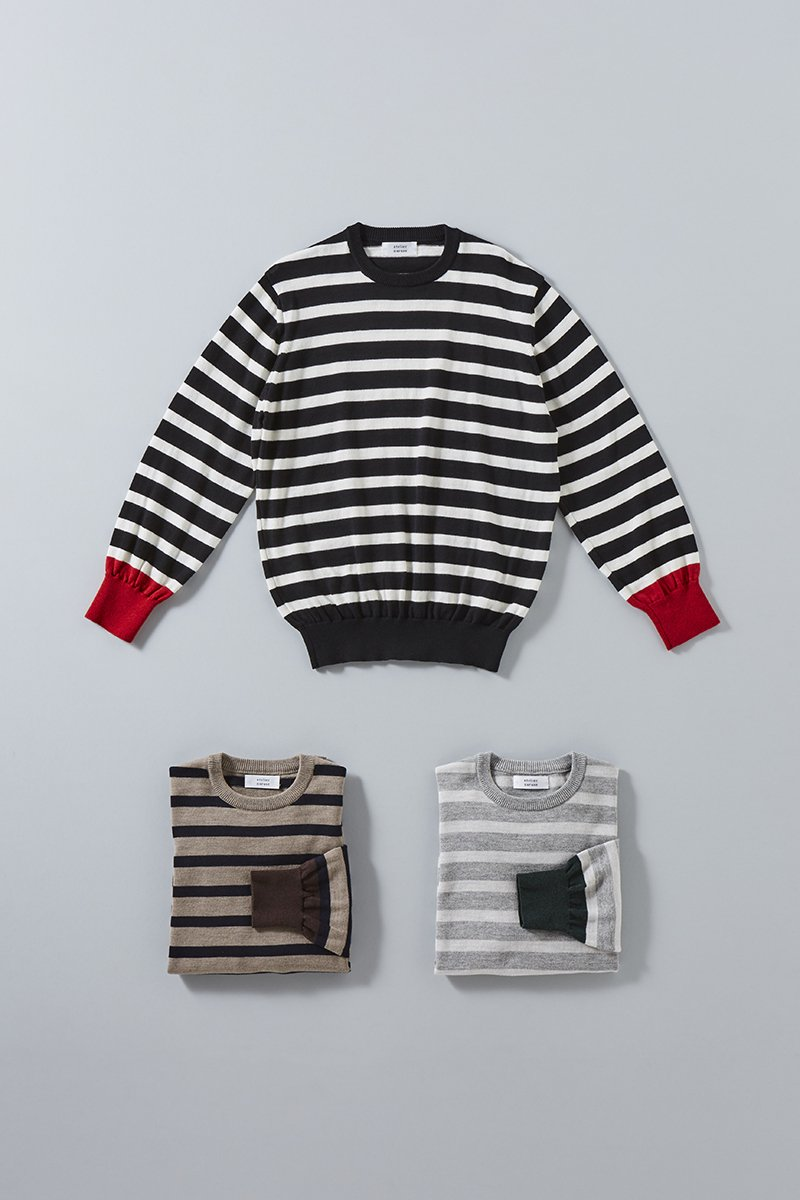 cotton wool border knit