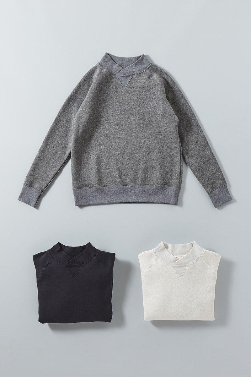 cotton mock-neck sweat