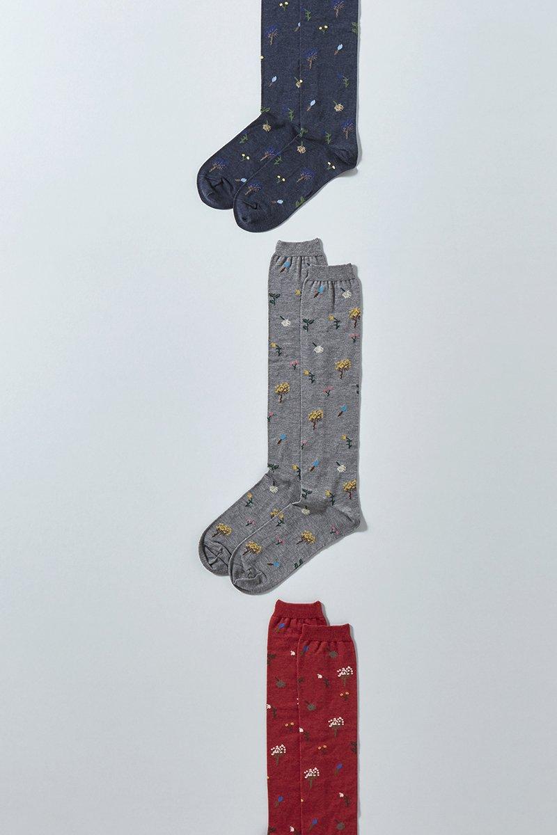 cotton ~botanical~ high socks
