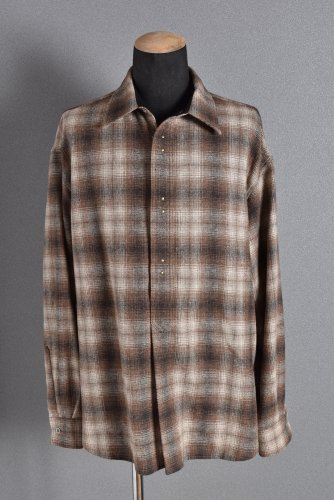 新品 17FW BACK BONE  オーバーサイズ  チェック ネルシャツ XL ベージュ