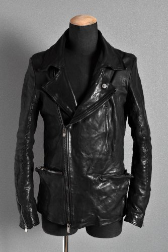 美品 19AW incarnation Horse Leather  Double Breast Jacket S BLACK