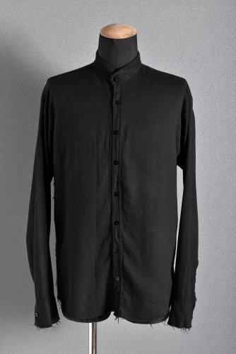 希少 美品 ELENA DAWSON グランパシャツ 46 BLACK エレナドーソン