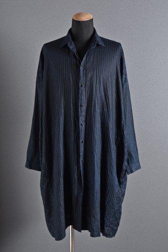 _vaital oversize long shirt / indigo dye & sumi coating  1 INDIGO