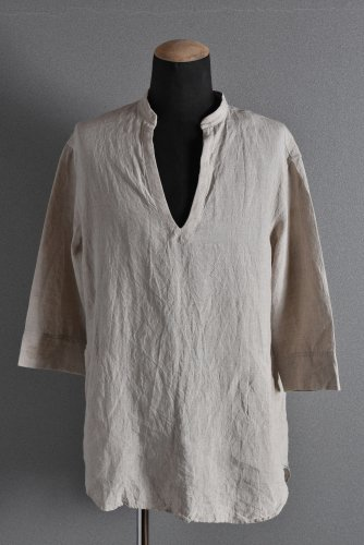 "美品 ISAMUKATAYAMA BACKLASH LINEN SKIPPER SHIRT ""M"" BEIGE"