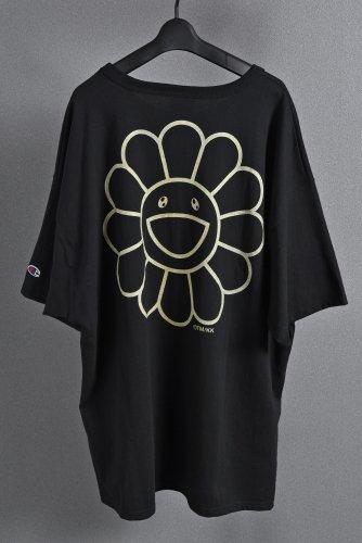 <img class='new_mark_img1' src='https://img.shop-pro.jp/img/new/icons1.gif' style='border:none;display:inline;margin:0px;padding:0px;width:auto;' />試着のみ美品 国内正規品 DOB & FLOWER TEE XXL  Black/Gold Takashi Murakami kaikai kiki 村上隆 黒金 ブラック ゴールド Tシャツ