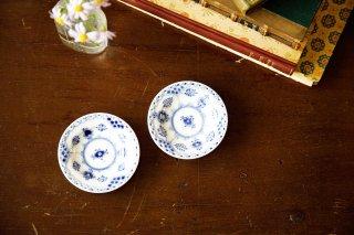 ブルーフルーテッド/ハーフレース 豆皿2枚セット