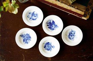 ブルーフラワー バターパッド豆皿 5枚セット