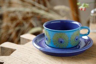HLA(ブルー×イエロー)ティーカップ&ソーサー