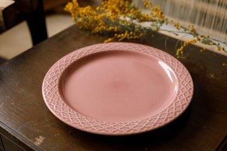 クイストゴー Cordial Palet(コーディアル パレット)ピンク 24cm ディナープレート